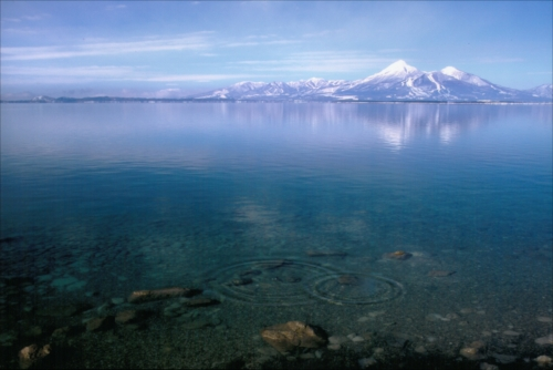 The Prize winner of 1st Photo Contest of Lake Inawashiro and Urabandai Lakes and Marshes toko eno sasoi