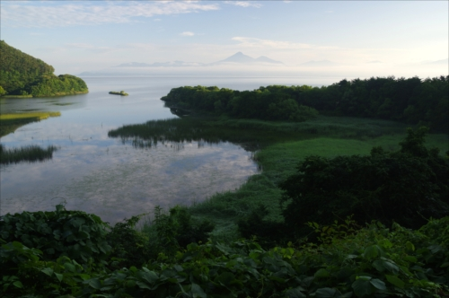 The Prize winner of 12th Photo Contest of Lake Inawashiro and Urabandai Lakes and Marshes Manatsu no asa